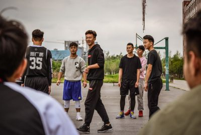 Basketball on the Zhengzhou University of Aeronautics campus