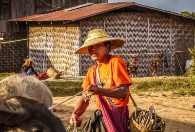 A local farmer during the Kalaw trekking Myanmar