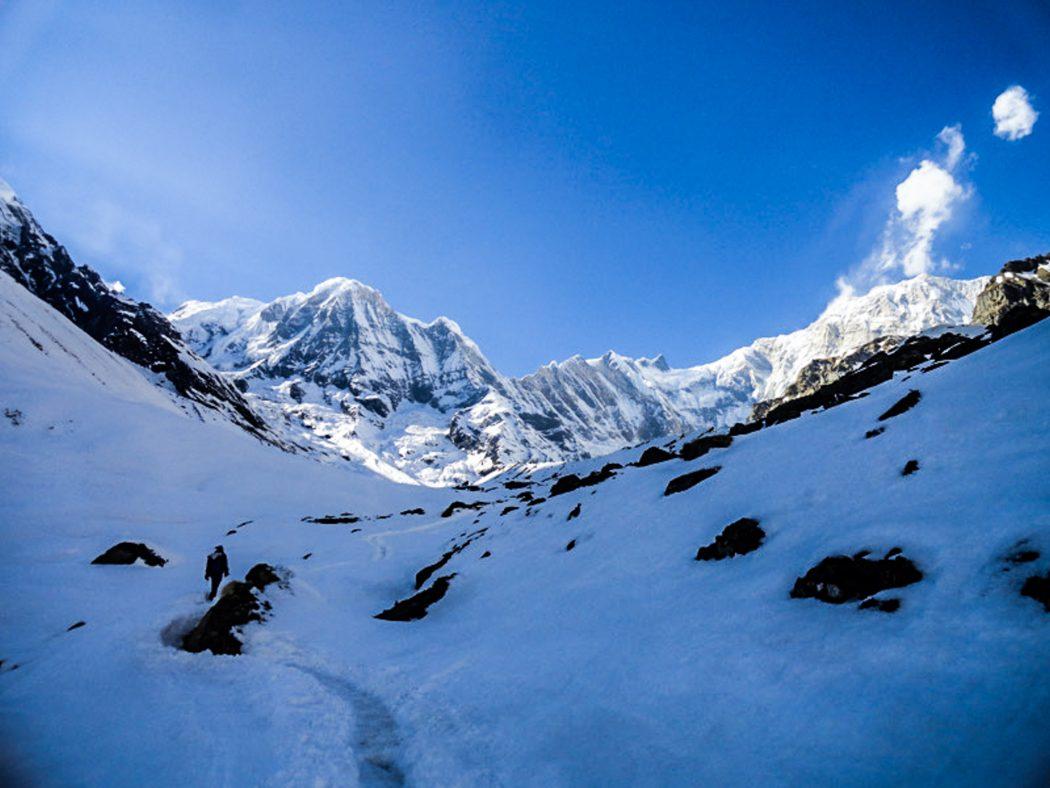 View on the Annapurna base camp trekking Nepal