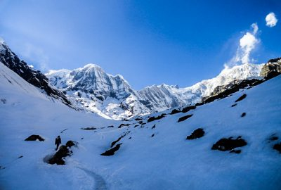 View on the Annapurna base camp trekking Nepal