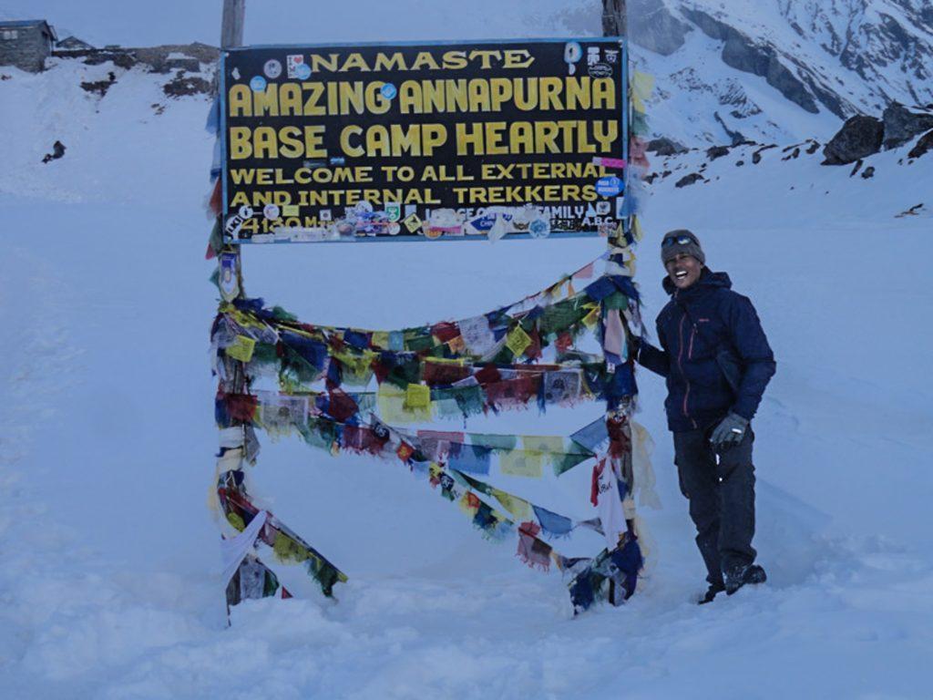 Finally I made it at Annapurna Base Camp 4130 m