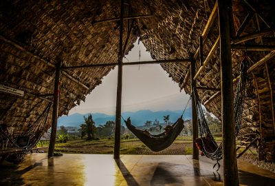 Creative Globetrotter in the hammock in Pai Thailand