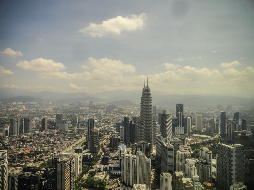 Kuala Lumpur skyline from the radio tower Malaysia