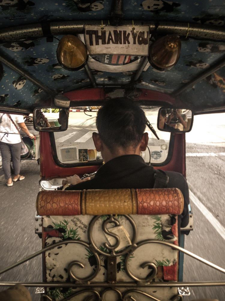 Famous tuktuk ride Bangkok Thailand
