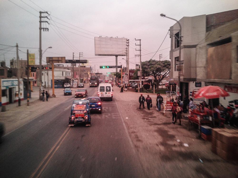 Traffic in Lima, peru