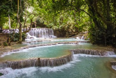 waterfalls near Luang Prabang, Laos