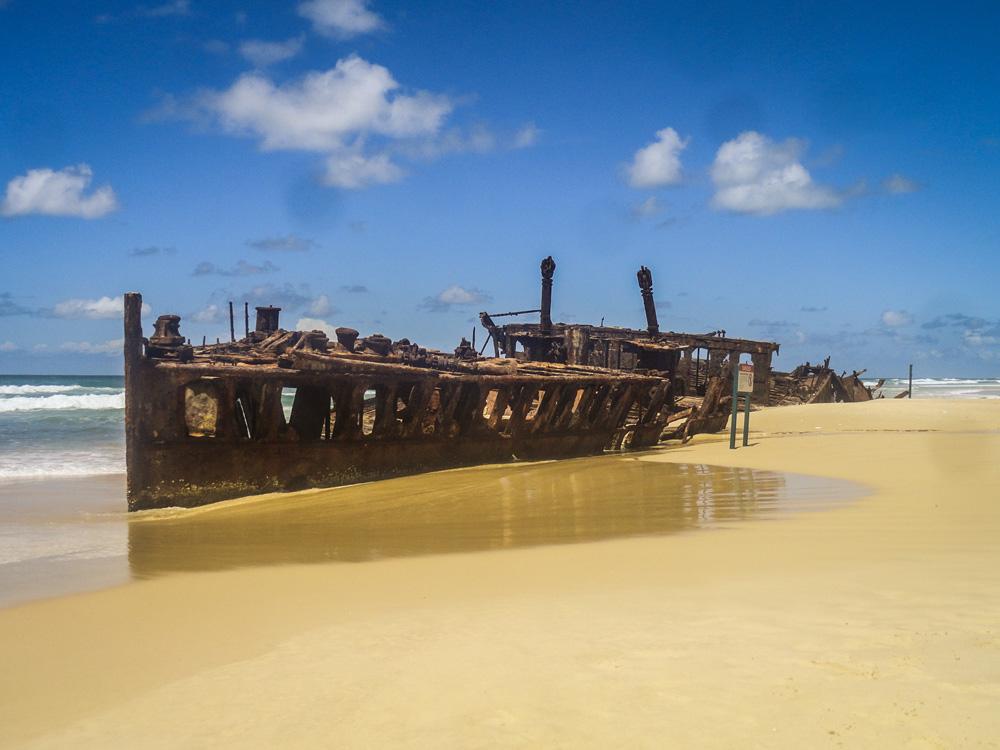 Ship wreckage Hervey Bay, Australië - Australia