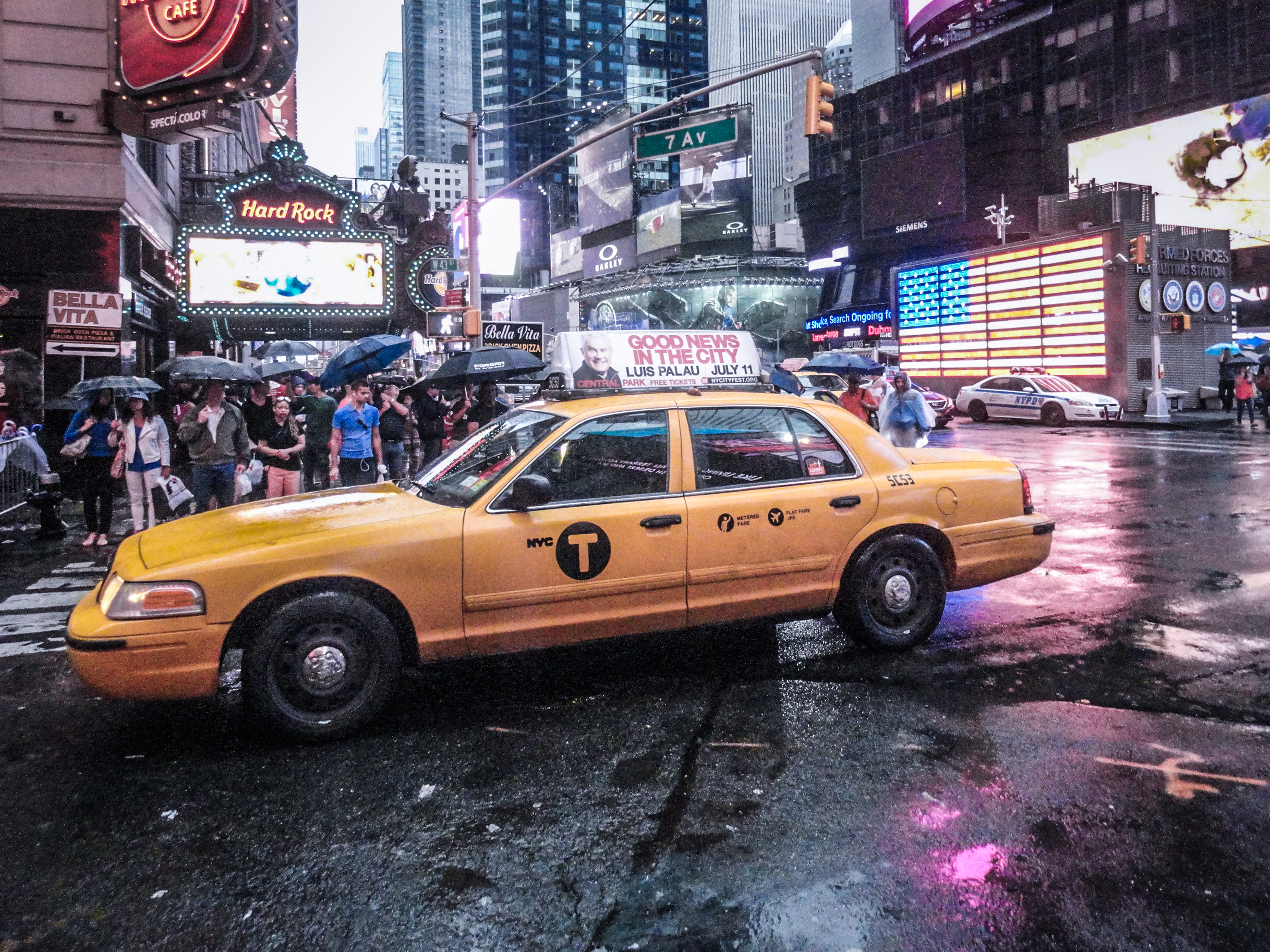 New York taxi, time square New York City, Manhattan