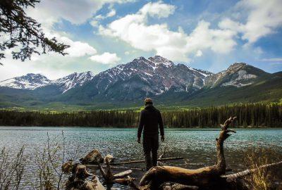 Pyramid mountain Jasper national park Alberta Canada