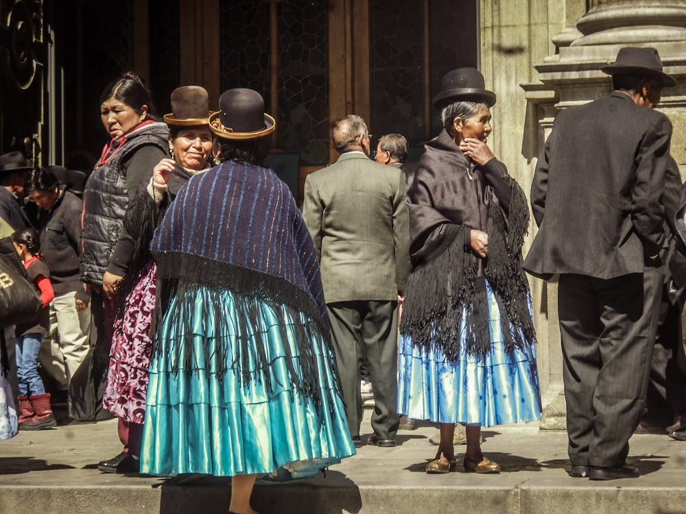 Local People in La Paz Bolivia