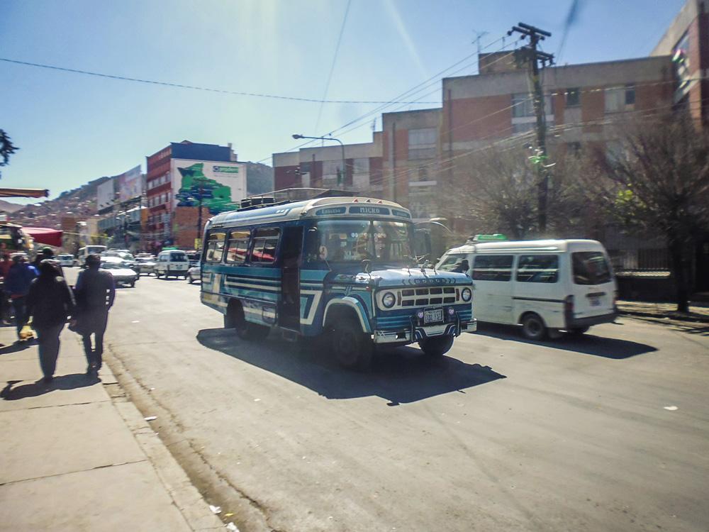 Local transport in Al Paz - Bolivia