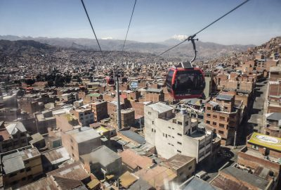 Cable car from La Paz to El Alto Bolivia - Bolivië