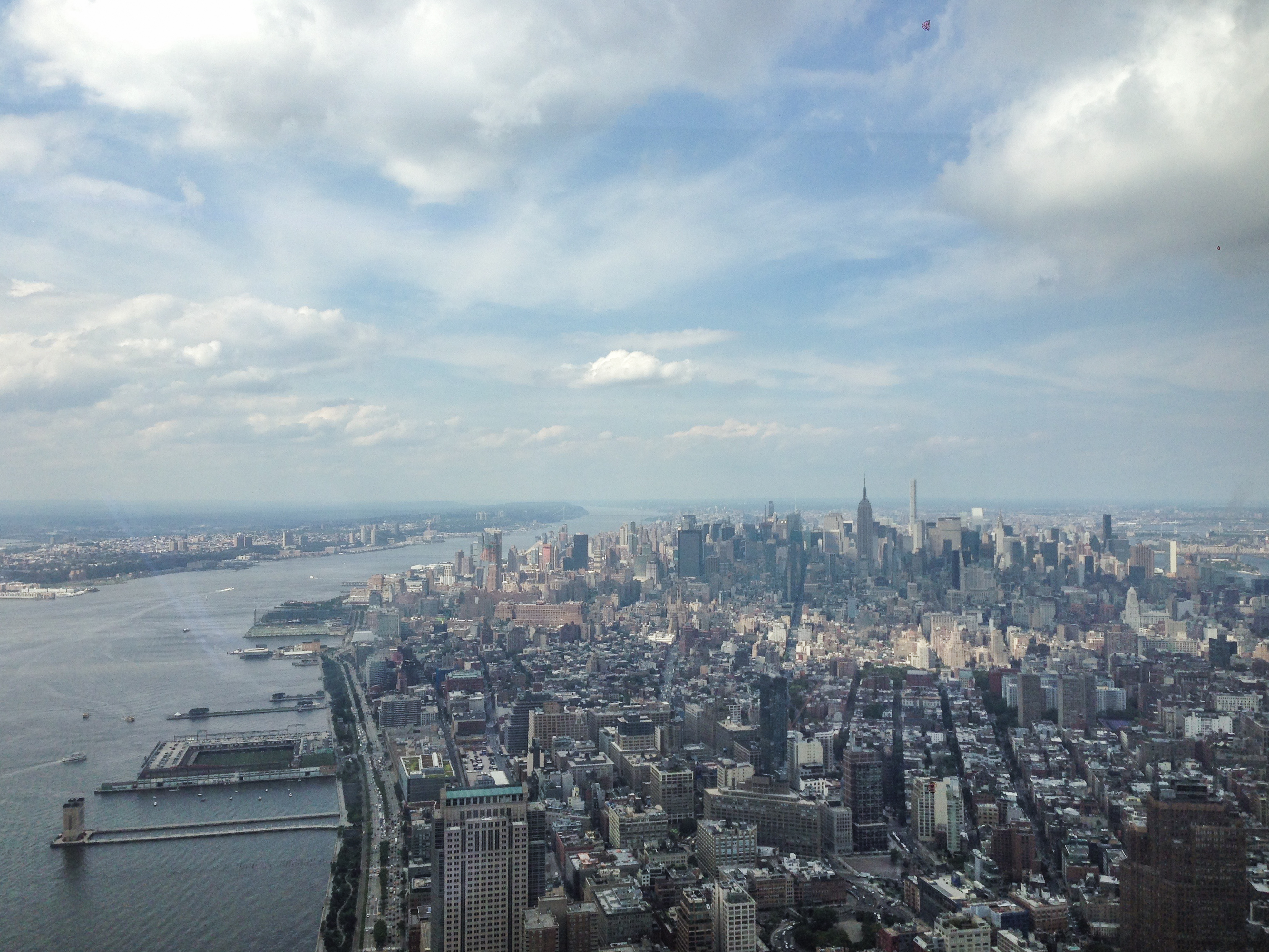 New york skyline from the Freedom tower USA United States