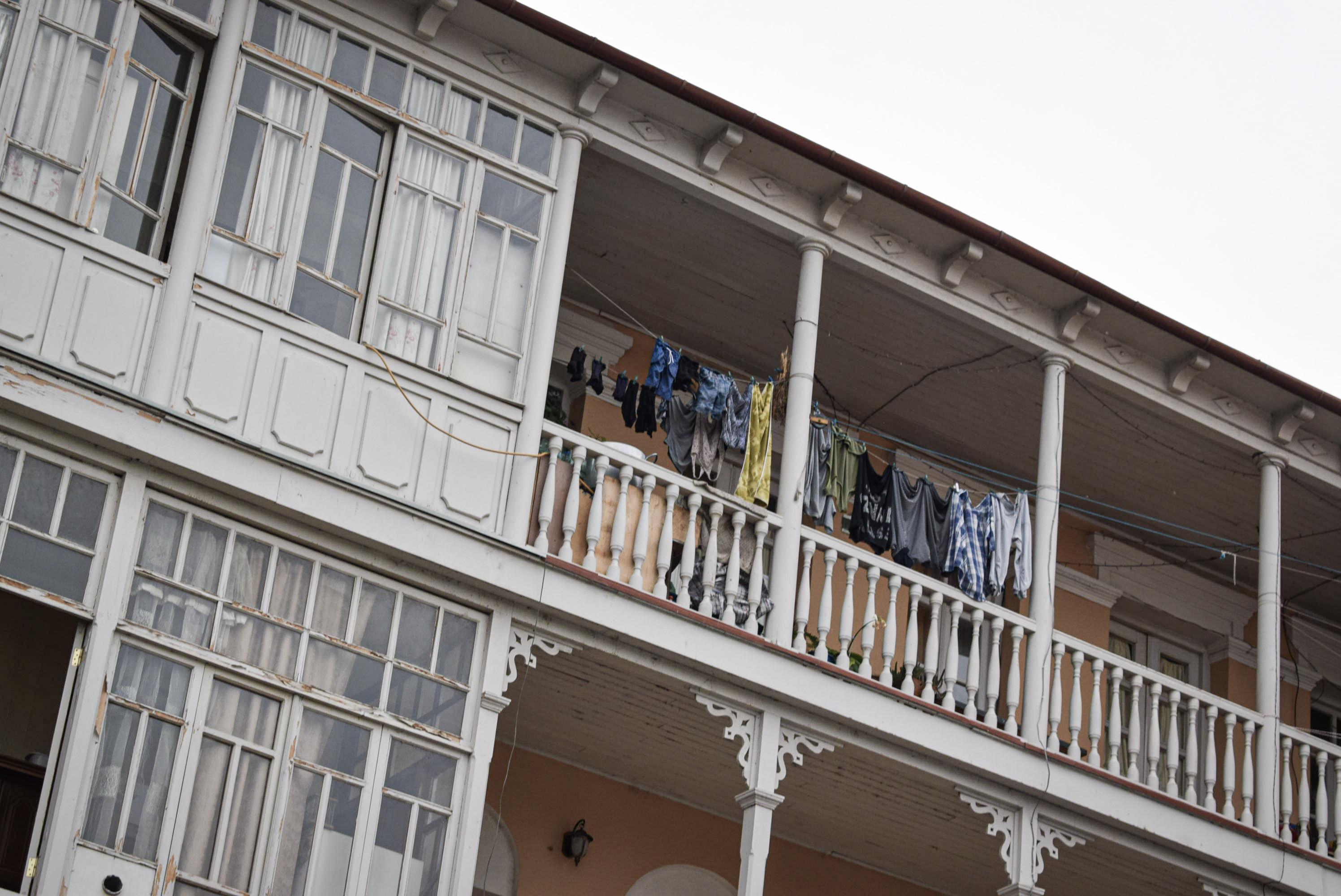 Typische Tbilisi en Georgische Balkonnetjes