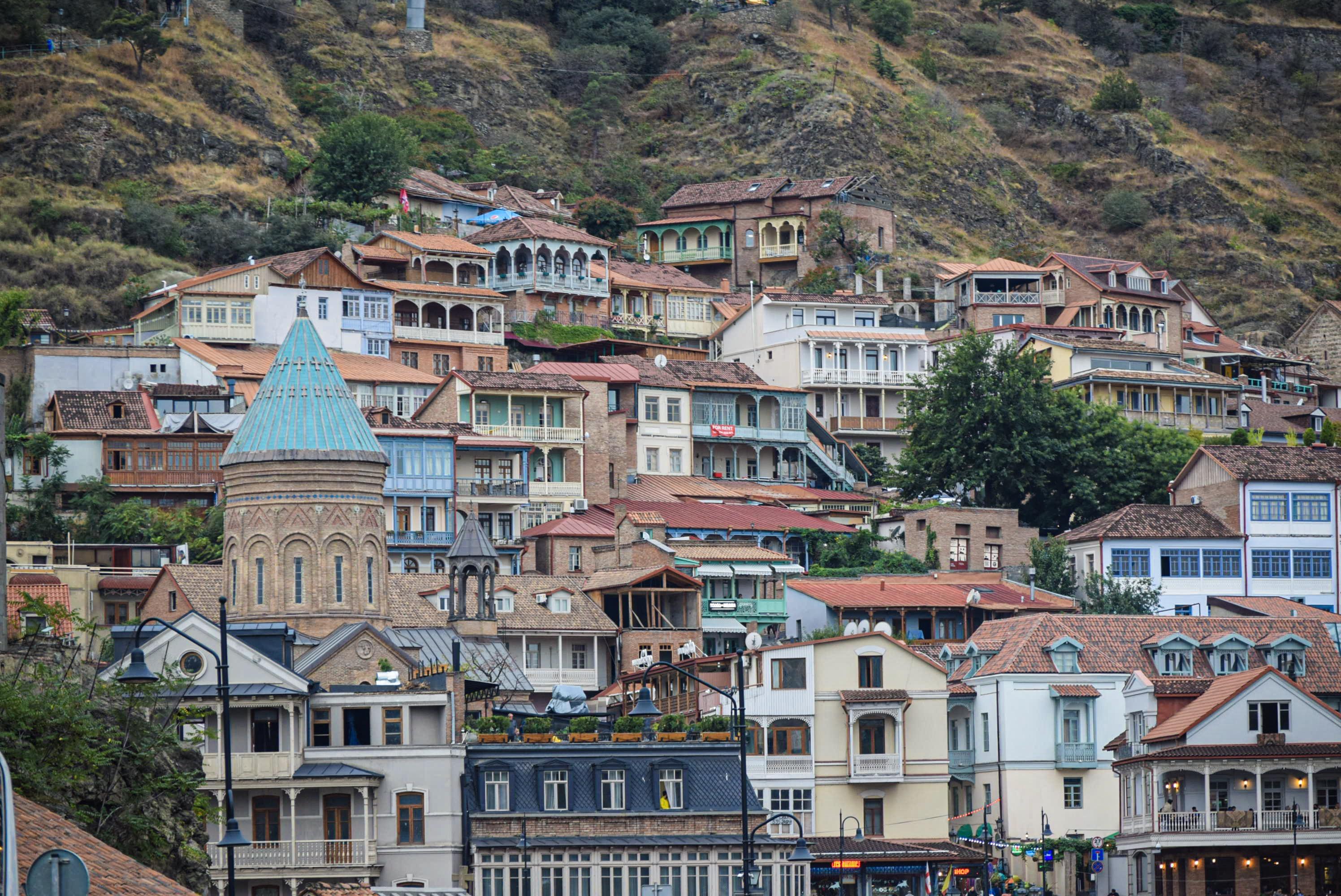 De oude stad van Tbilisi