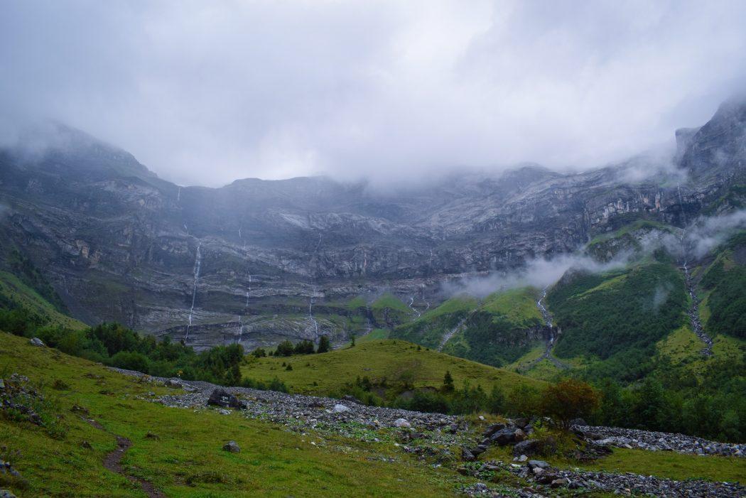 Les Diablerets waterfalls Creux de Champs